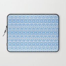 Dividers 07 in Light Blue over White Laptop Sleeve