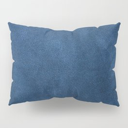 Blue leather texture Pillow Sham