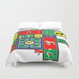 THE DOG HOUSE II - WITH COLORS Duvet Cover