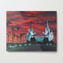 San Diego LDS Temple at Dusk Metal Print