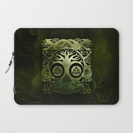 Tree of life - Yggdrasil  and celtic animals Laptop Sleeve