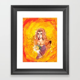 Princess Zelda - Copic Marker and Acrylic Framed Art Print