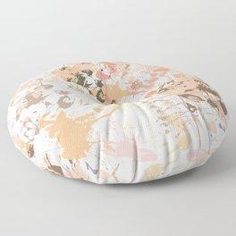 Skin Tones - Liquid Makeup Foundation - on White Floor Pillow