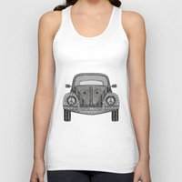 volkswagon Tank Tops featuring Tangled VW Bug by Cherry Creative Designs