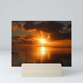 Sunset in French Polynesia Mini Art Print