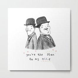 Laurel & Hardy Metal Print