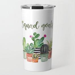 Squad Goals Cactus Print Travel Mug