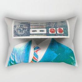 Faces of the Past Console alt_no stripes Rectangular Pillow
