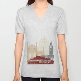 Kingston Upon Hull skyline poster Unisex V-Neck