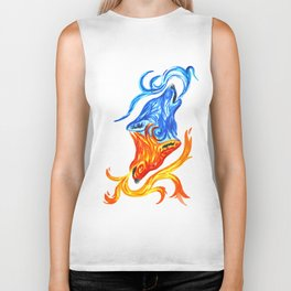 Fire and Water Wolves Biker Tank