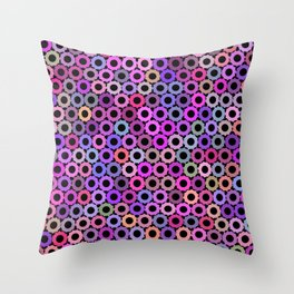 Pink Purple Sprockets Throw Pillow