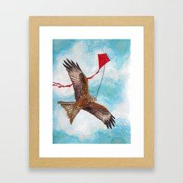 A Kite Flying a Kite Framed Art Print