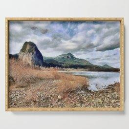 Columbia River Gorge, Skamania County Washington Serving Tray