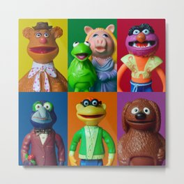 Action Figure Grid: The Muppet Show Metal Print