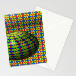 Colored pattern room with bowl Stationery Cards