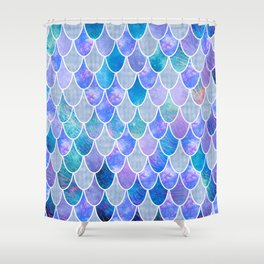 mermaid scales #5 Shower Curtain