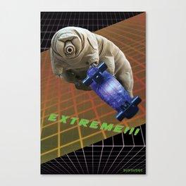 Tardigrade EXTREME 80's Space Skateboard Canvas Print