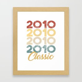 Vintage Classic 2010 Shirt 8th Birthday Party Celebration Gifts Framed Art Print