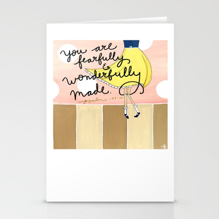 Fearfully and Wonderfully Made Stationery Cards