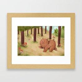 Fat Little Bear Framed Art Print