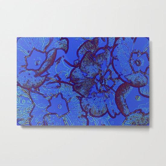 blue primroses Metal Print