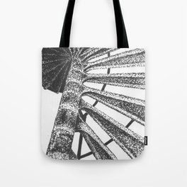 Cape Henry Lighthouse Spiral Stairs Tote Bag