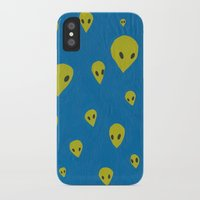 aliens iPhone & iPod Cases featuring aliens by demii whiffin