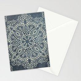 Mandala Vintage Ivory Blue Stationery Cards