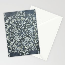 Mandala Vintage Ivory Blue Stationery Cards