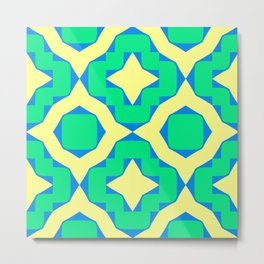 Abstract Pattern Modern Art Style Metal Print