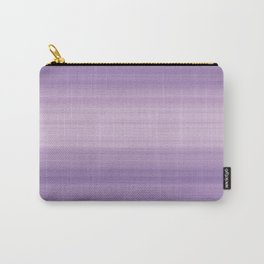 Pastel Ultra Violet Gradient Stripes Trendy Color of the year 2018 Carry-All Pouch