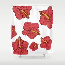Once and flor-al Shower Curtain
