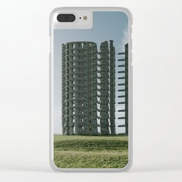 Stonehenge Tower-Surreal Version of Stonehenge Clear iPhone Case