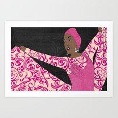 Showgirl 1 Art Print