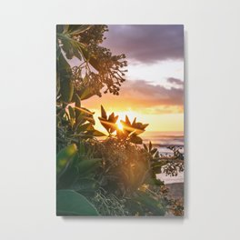 Kauai Hawaii Sunrise | Tropical Beach Nature Ocean Coastal Travel Photography Print Metal Print