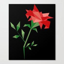 Origami flower polygon rose Canvas Print