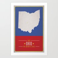 ohio Art Prints featuring OHIO by Matthew Justin Rupp