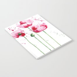 Expressive poppies    watercolor Notebook