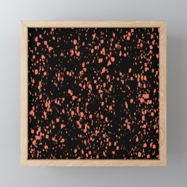 Terrazzo Coral Black Abstract Mosaico Framed Mini Art Print