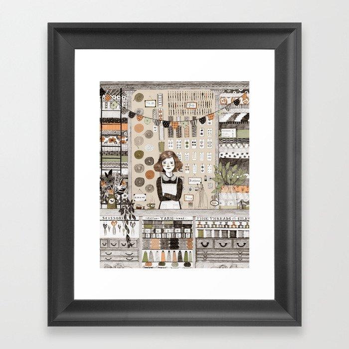The Notions Shop Gerahmter Kunstdruck
