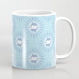 Dolphins Mandala Blue Coffee Mug