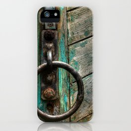 Green Boat at Rest iPhone Case