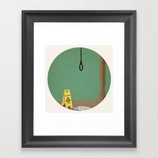 Caution! Wet Death! Framed Art Print