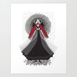 Morena - Slavic Goddess of winter and rebirth of nature Art Print
