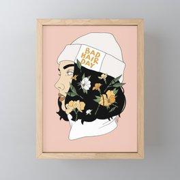 Bad Hair Day Framed Mini Art Print
