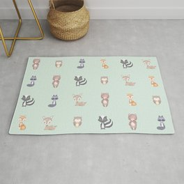 ANIMALS OF THE FOREST Rug
