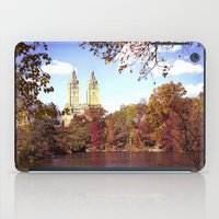 central park iPad Cases featuring central park by Penny Pixel