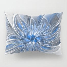 Abstract Art with Blue Pillow Sham