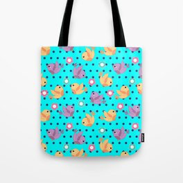 Freely Birds Flying - Fly Away Version 2 - Arctic Blue Color Tote Bag
