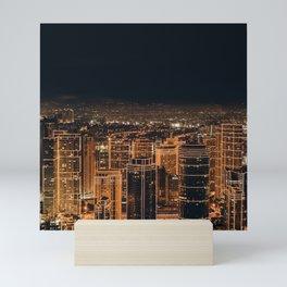 Somewhere in China – City by night Mini Art Print